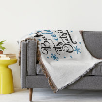 baby its cold outside throw blanket