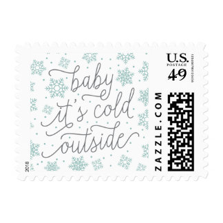 Baby It's Cold Outside Winter Baby Shower Postage