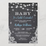 "Baby It's Cold Outside Winter Boy Baby Shower Invitation<br><div class=""desc"">Create your perfect invitation with this pre-designed templates, you can easily personalize it to be uniquely yours. For further customization, please click the ""customize further"" link and use our easy-to-use design tool to modify this template. If you prefer Thicker papers / Matte Finish, you may consider to choose the Matte...</div>"