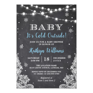 Winter baby shower invitations zazzle baby its cold outside winter boy baby shower invitation filmwisefo