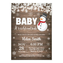 Baby its Cold Outside Winter Snowman Baby Shower Invitation