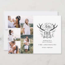 Baby it's cold stag multi photo Christmas Holiday Card