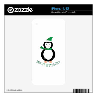Baby It's Getting Cold Decal For iPhone 4