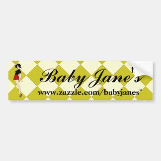 Baby Jane Pin Up Girl Bumper Sticker