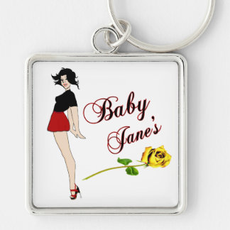 Baby Jane Pin Up Girl Keychain