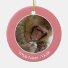 Baby Japanese Macaque | Snow Monkey Ceramic Ornament