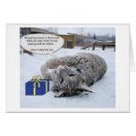 Baby Jenga - Bobcat Birthday/Holiday card