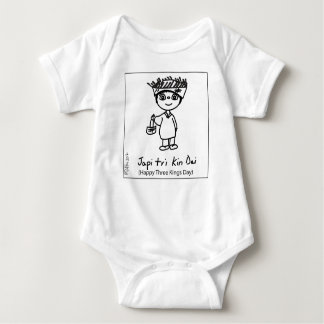Baby Jersey Bodysuit Happy Three Kings Day