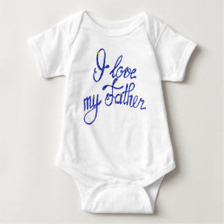 Baby Jersey Bodysuit I love my Father
