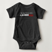 Baby Jersey Bodysuit- My Dad farms With LAMBO Baby Bodysuit