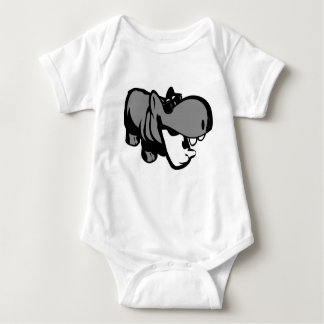 Baby Jersey Bodysuit - Summertime Hippo