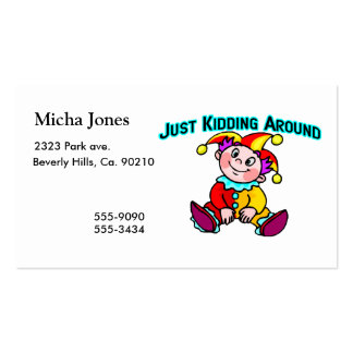 Baby Jester Just Kidding Around Double-Sided Standard Business Cards (Pack Of 100)