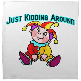 Baby Jester Just Kidding Around Cloth Napkin