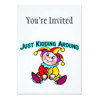 Baby Jester Just Kidding Around 5x7 Paper Invitation Card
