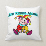 Baby Jester Just Kidding Around Pillow