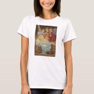 Baby Jesus and Angels Cross Stitch T-shirt