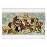 Baby Jesus and Children vintage Christmas 1964 Greeting Card