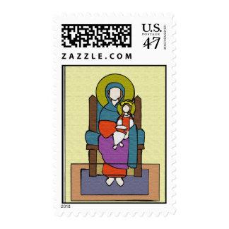 Baby Jesus and Mary: Christmas 2011 Postage Stamp