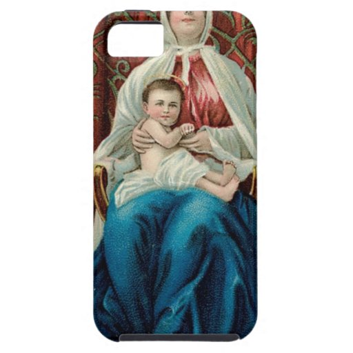 Baby Jesus and Mary on Christmas iPhone 5 Case