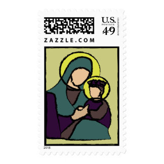 Baby Jesus and Mary Postage