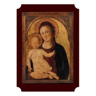 """Baby Jesus and Mary Under and Arch 5"""" X 7"""" Invitation Card"""