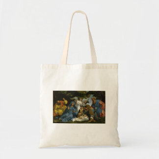 Baby Jesus and Mary with the Saints Budget Tote Bag