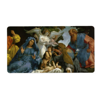 Baby Jesus and Mary with the Saints Shipping Label
