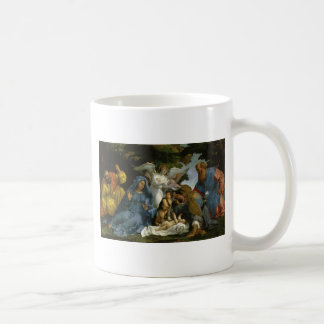 Baby Jesus and Mary with the Saints Classic White Coffee Mug