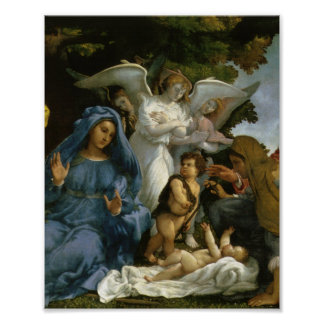 Baby Jesus and Mary with the Saints Poster
