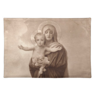 Baby Jesus and Mother Mary Cloth Placemat