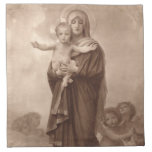 Baby Jesus and Mother Mary Napkin