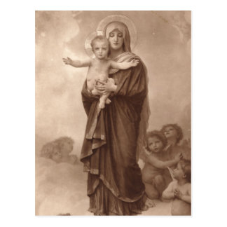 Baby Jesus and Mother Mary Post Card