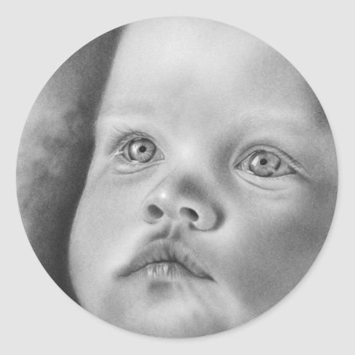 Baby Jesus Christmas Classic Round Sticker