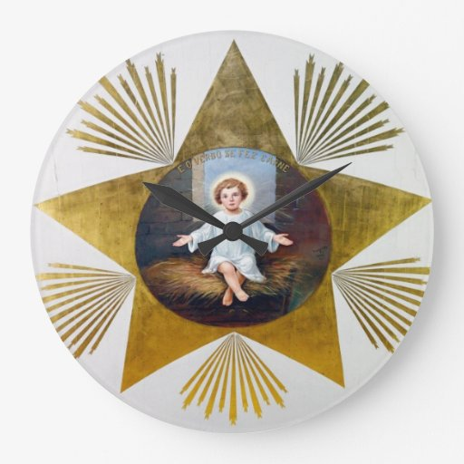 Baby Jesus decorative artwork Clock