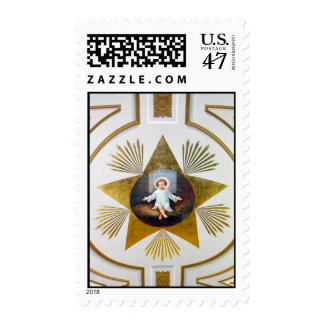 Baby Jesus decorative artwork Postage Stamp
