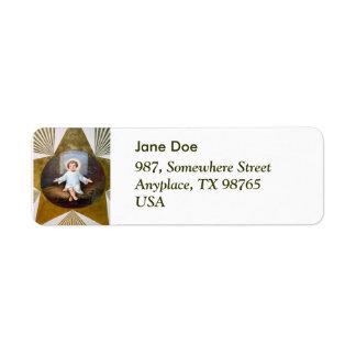 Baby Jesus decorative artwork Return Address Label