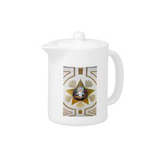 Baby Jesus decorative artwork Teapot