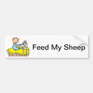 Baby Jesus Feeding His Sheep Bumper Sticker