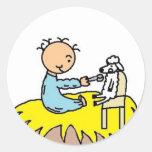 Baby Jesus Feeding His Sheep Sticker
