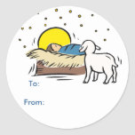 Baby Jesus Gift Tags Stickers