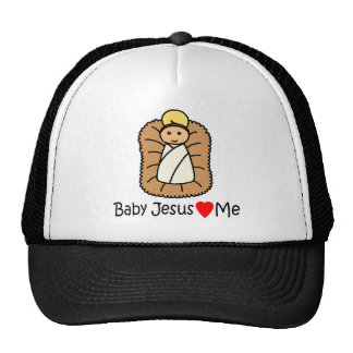 Baby Jesus Heart (Loves) Me Mesh Hat