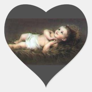 Baby Jesus Heart Sticker