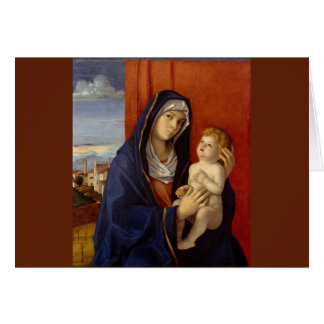 Baby Jesus Holding Gold Pear Card