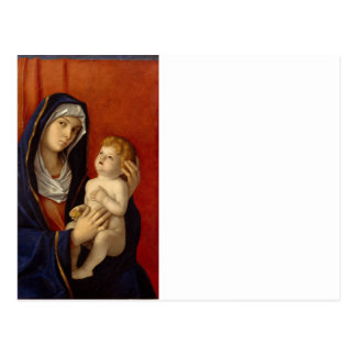 Baby Jesus Holding Gold Pear Postcard