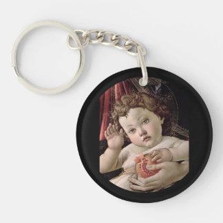 Baby Jesus Holding Pompegranate Keychain