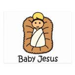 Baby Jesus In A Manger Post Cards