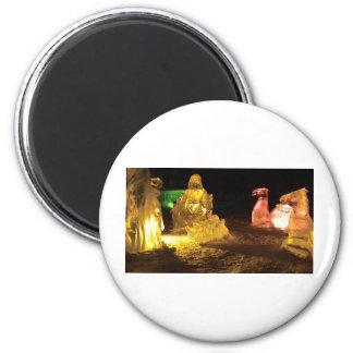 Baby Jesus in ice 2 Inch Round Magnet