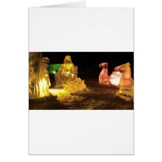 Baby Jesus in ice Card