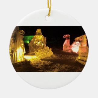 Baby Jesus in ice Ceramic Ornament
