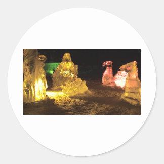 Baby Jesus in ice Classic Round Sticker